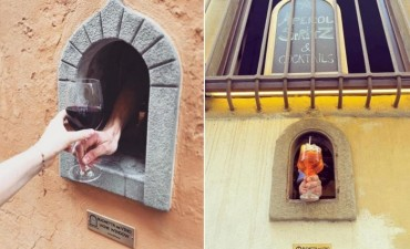 В Тоскане винные окна эпохи Возрождения снова используются для социального дистанцирования